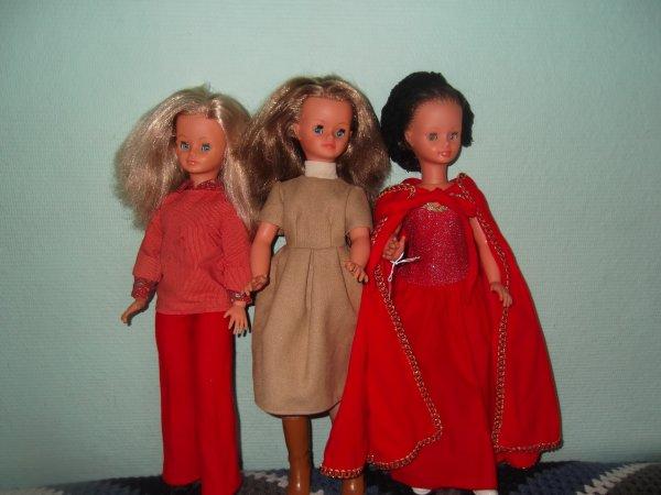 Cathie en In et Vendôme 1977, robe Ambre 1980.