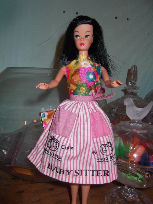 Barbie babysits