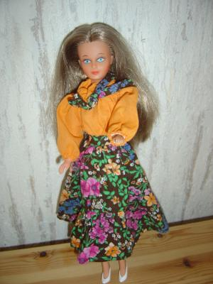 bouclette en robe de présentation