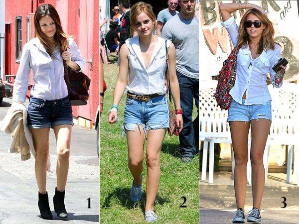Qui La Short Blanche Jeans Et Blog En Mieux Porte Le Chemise rF0rtw