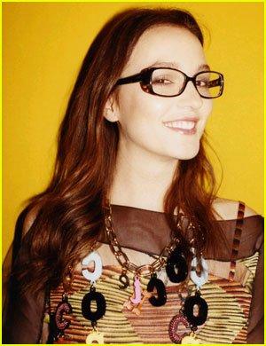 Leighton Meester fait la pub pour les lunettes MISSONI