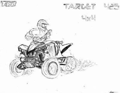 Dessin quad c un blog ou il y a de tou moto moto cross - Dessin moto ktm a colorier ...
