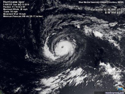Igor est passé au stade de cyclone.