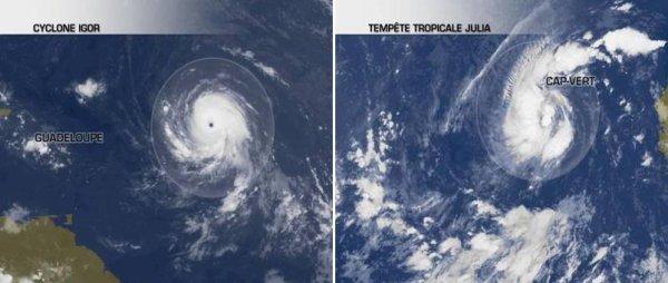 Igor devient ouragan majeur de catégorie 4 et nouvelle tempête tropicale Julia près du Cap-Vert !