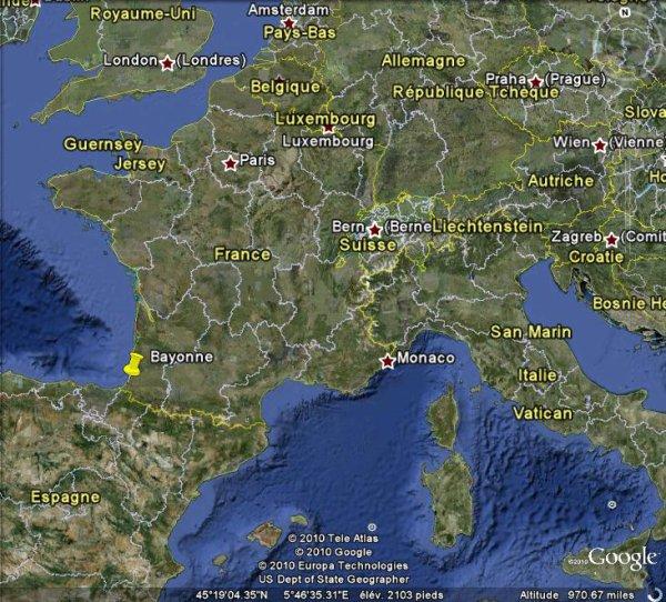 Séisme de magnitude 3,7 ressenti près de Bayonne.