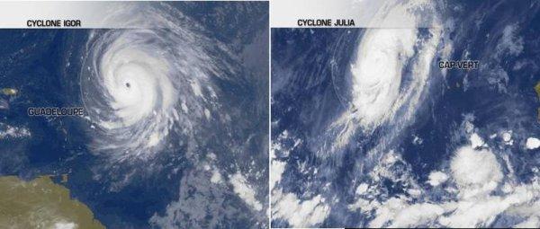 Igor et Julia 2 cyclones majeurs sur l'Atlantique !
