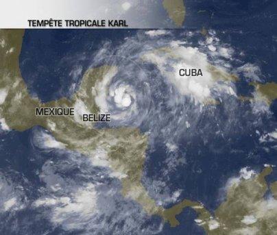 Une tempête tropicale menace le Mexique.