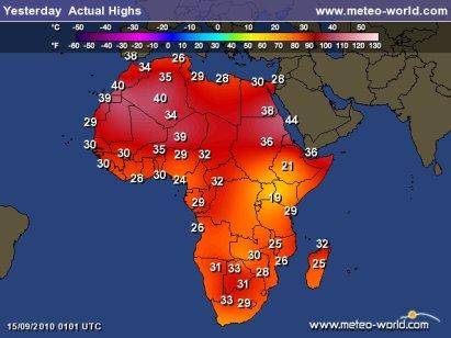 Carte Meteo Afrique Du Sud.Vague De Chaleur Dans L Est De L Afrique Du Sud Les