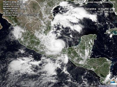 Karl devient un ouragan de catégorie 3 !