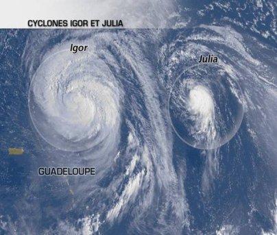 Igor et Julia poursuivent leur remontée vers le Nord.