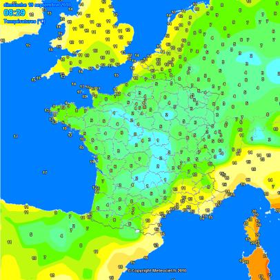 Très frais avec quelques gelées ce Dimanche 19 septembre matin.