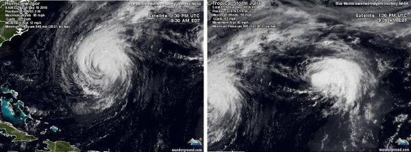 Les Bermudes frappées par le cyclone Igor !