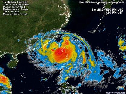 Taiwan touchée par le typhon Fanapi.