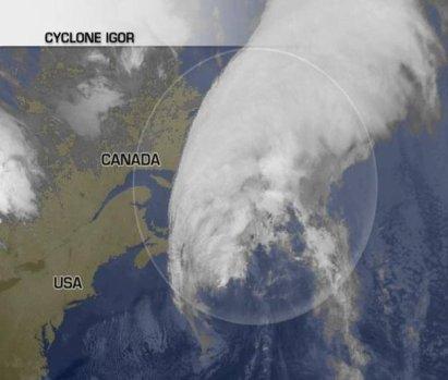 Après les Bermudes le cyclone Igor va toucher Saint-Pierre et Miquelon !