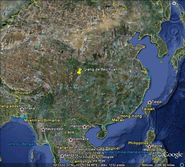 Inondations et glissements de terrain dans le Sichuan en Chine.