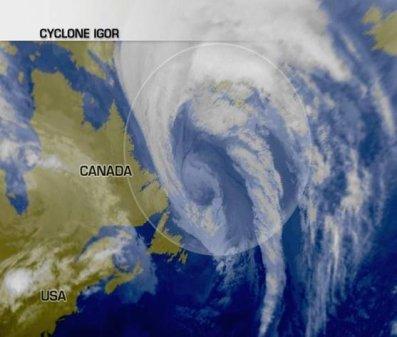 Igor a frappé Saint-Pierre et Miquelon et menace le Groenland !