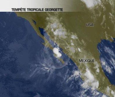Tempête tropicale en Basse-Californie.