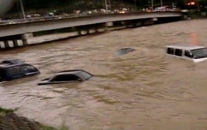 Inondations en Corée du Sud.