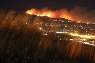 Important incendie de forêt dans l'Utah aux États-Unis.