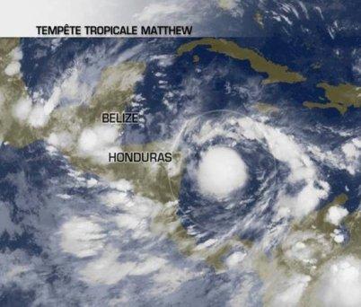 Une tempête tropicale menace le Honduras et Bélize.