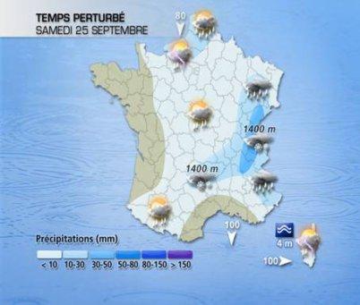 Pour ce week-end, très frais, instable et venté !