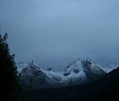 Chutes de neige sur les Alpes !