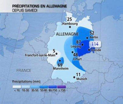Fortes pluies en Allemagne et en République Tchèque ces derniers jours.