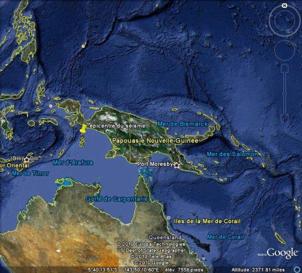 Séisme sous-marin de magnitude 6 dans l'Est de l'Indonésie.