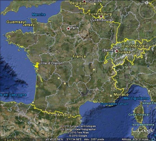 Séisme modéré de magnitude 4,5 à l'Ouest de l'Ile d'Oléron.