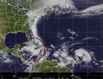 Nicole à fait 2 morts et 6 disparus en Jamaïque.