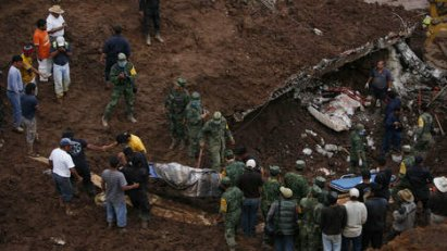36 morts suite aux glissements de terrain et inondations au Mexique !