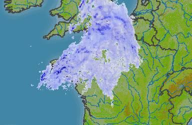Fortes pluies en Bretagne.