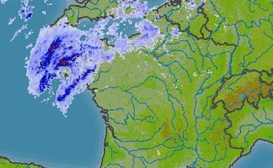 Premier bilan des fortes pluies en Bretagne.