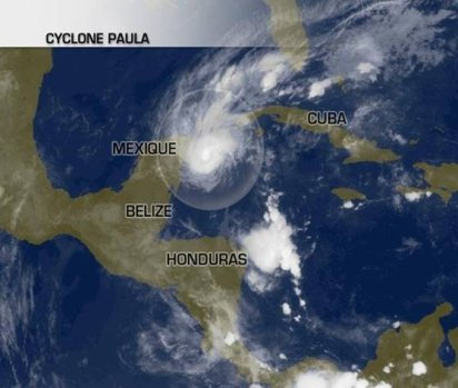Le cyclone Paula menace le Mexique et Cuba.