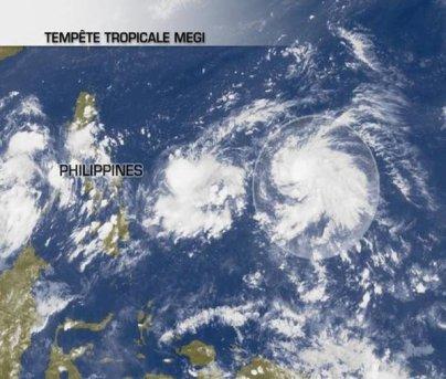 Megi, un futur typhon dans le Pacifique.