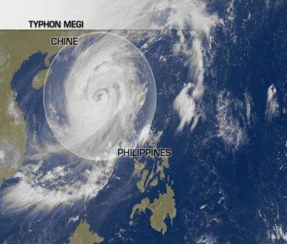 Le typhon Megi menace la Chine !
