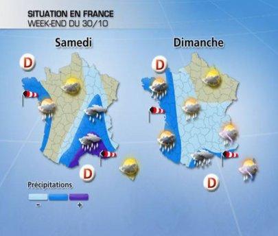 Pour ce week-end, perturbé sur toute la France !