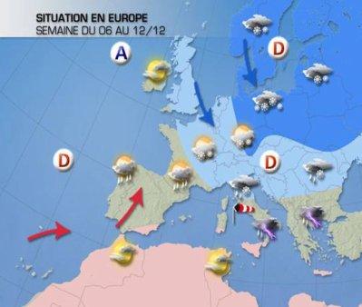 Pour cette semaine, froid et neigeux au Nord, douceur temporaire au Sud.