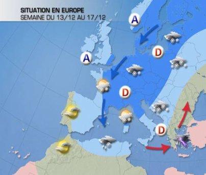 Pour cette semaine, retour du froid et de la neige !