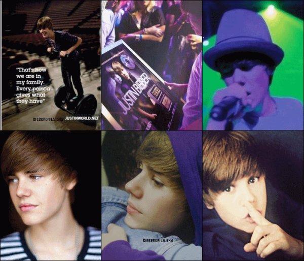 Voici quelques-unes des magnifiques photos parus dans le livre First Step 2 Forever : My Life : crédit to JustinWorld.net