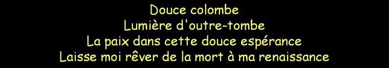 Oh ma colombe