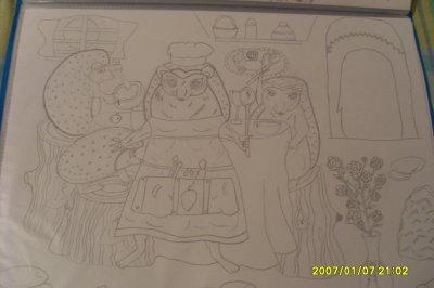 un dessin d'une famille niglo qu 'une  amie ma fait encore merci a toi