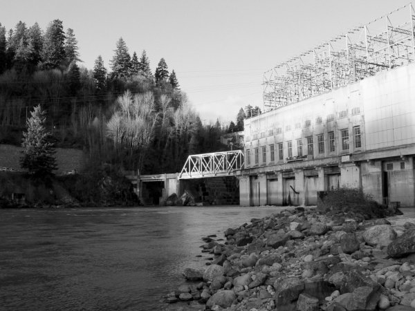 The lower part of the dam in mission bc