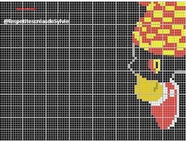 Grille point de croix  bart simpson