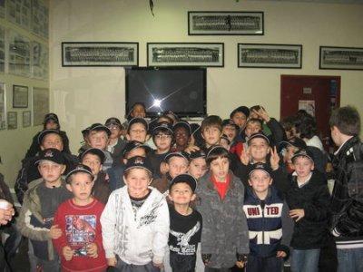 le pére -noël est passer au club de rugby de tonneins XIII .......