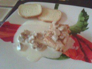 blanc de poulet  sauce creme champignon
