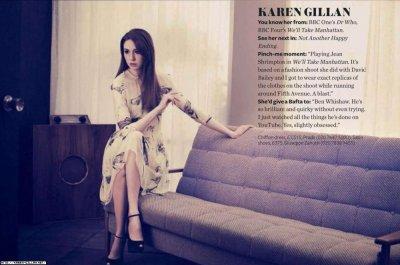 Karen Gillan Magazines en 2012
