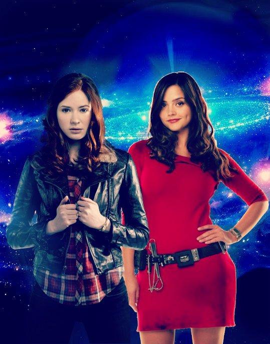 Karen Gillan et Jenna Coleman (Amy Pond et Clara Oswald)