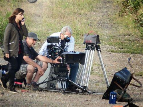 """Jenna Coleman sur le tournage de """"Doctor Who"""" le 13 juin 2014"""