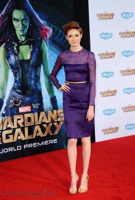 """Karen Gillan """"Les Gardiens de la Galaxie"""" Première à Los Angeles le 21 juillet"""